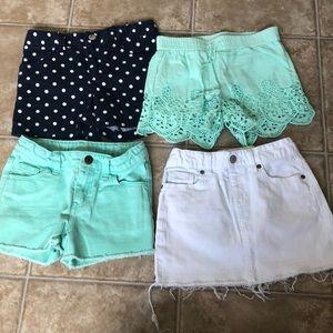Lot of 4 shorts/skirt